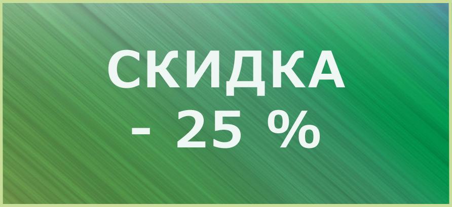 Скидка 25% на квартальный отчет
